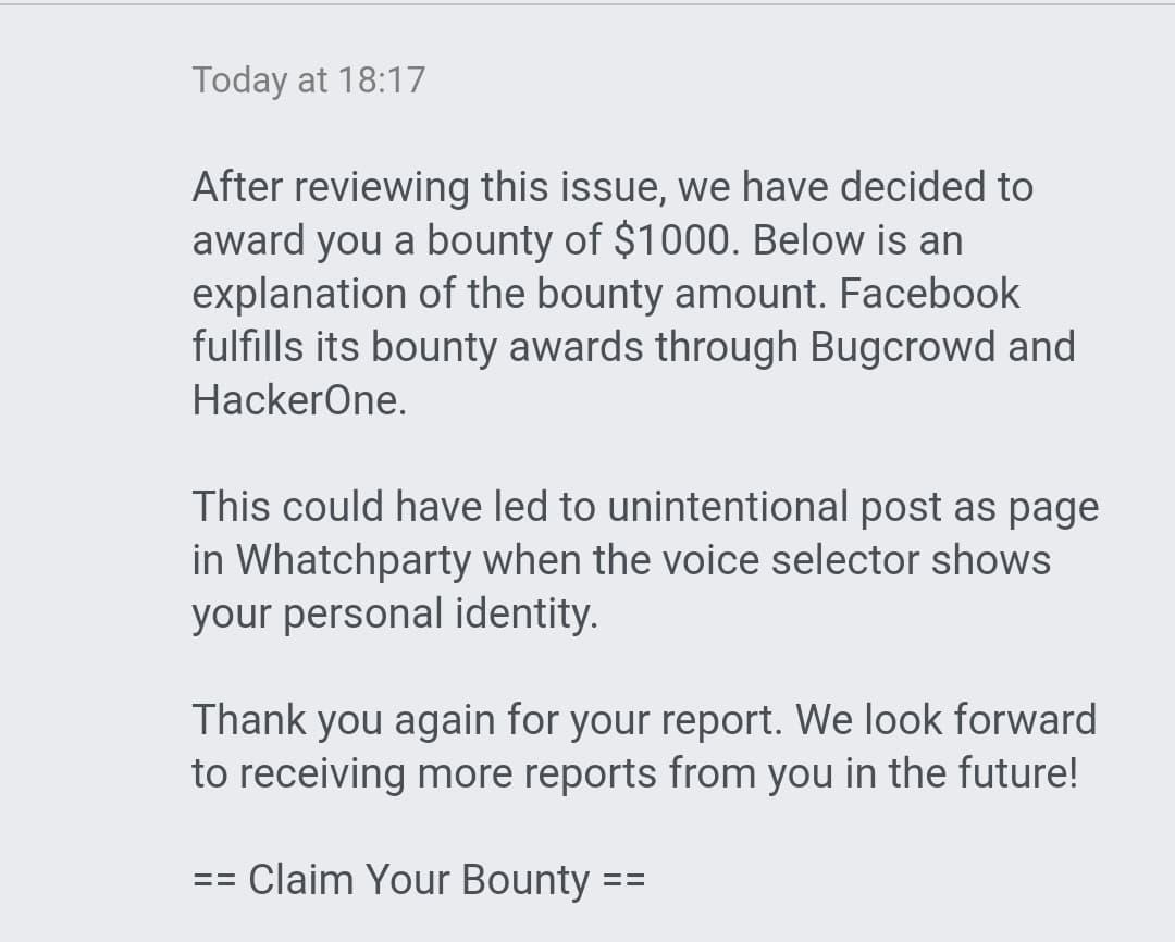 Message From Facebook Security Team